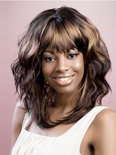 Wavy Brown Layered Good African American Wigs