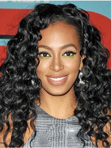 Curly Black Lace Front Beautiful Celebrity Wigs
