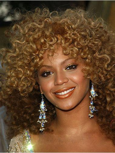 Blonde Afro Curly Ideal Medium Wigs