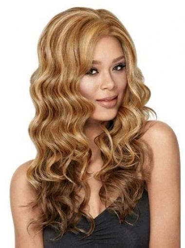 Brown Without Bangs Wavy High Quality Glueless Lace Front Wigs