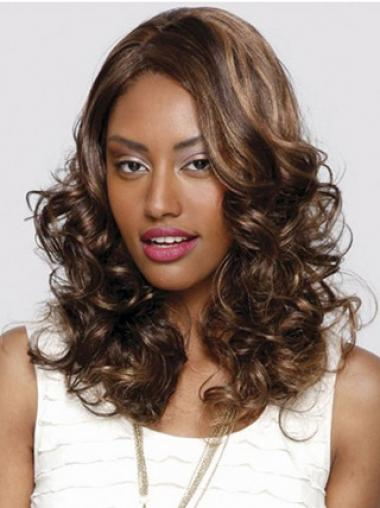 Auburn Without Bangs Curly Popular Glueless Lace Front Wigs
