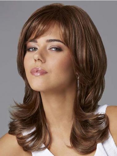 Wavy Brown Layered Fabulous Medium Wigs