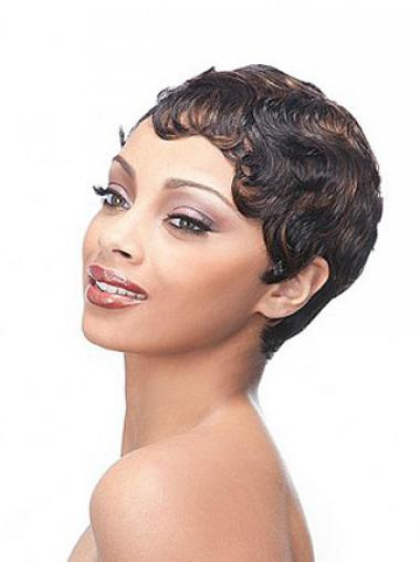 Durable Synthetic Boycuts Wavy Short Wigs