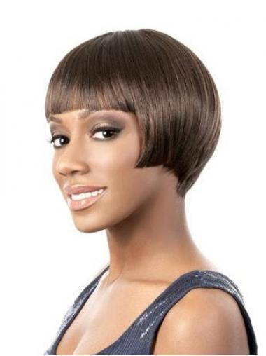 Brown Bobs Straight Modern Short Wigs