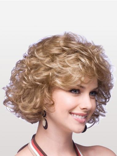 Curly Blonde Layered Great Classic Wigs