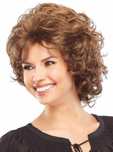 Curly Auburn Layered Ideal Classic Wigs