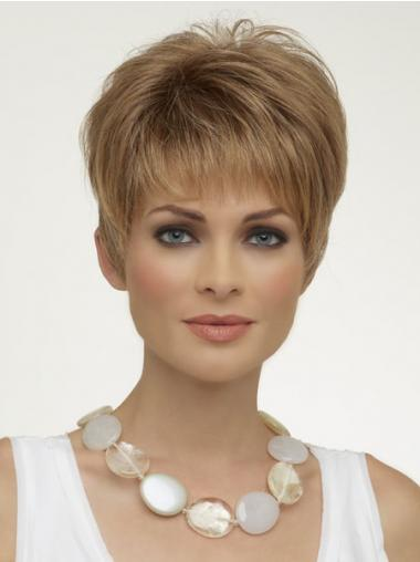 Blonde Boycuts Straight Online Synthetic Wigs