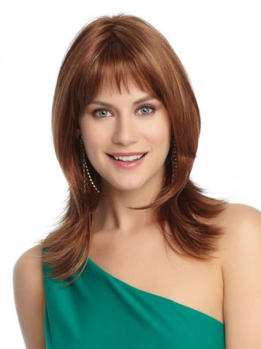 Straight Layered Auburn Beautiful Petite Wigs