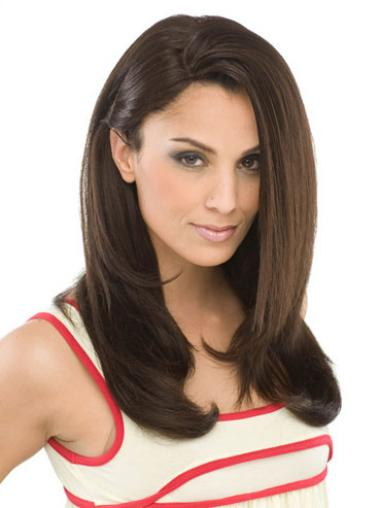 Brown Without Bangs Straight Gorgeous Synthetic Wigs