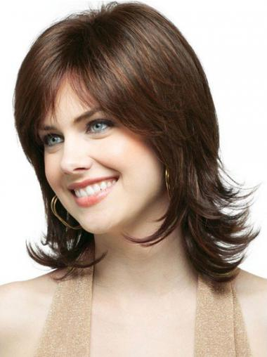 Brown Layered Wavy New Classic Wigs