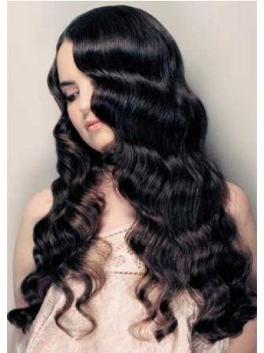 Style Black Lace Front Curly Long Wigs
