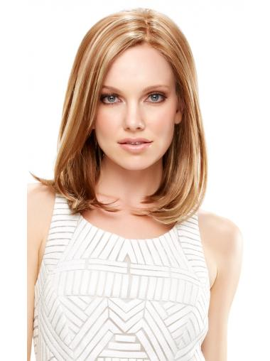 Straight Blonde Affordable Medium Wigs