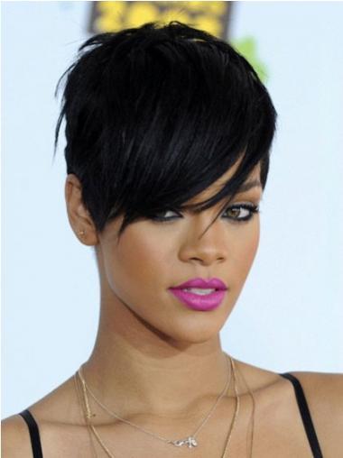 Black Boycuts Straight Stylish Rihanna wigs