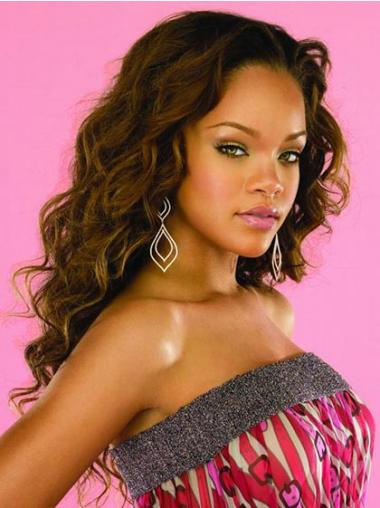 Brown Without Bangs Wavy Perfect Rihanna wigs