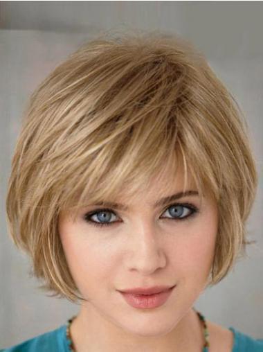Blonde Straight No-fuss Bob Wigs