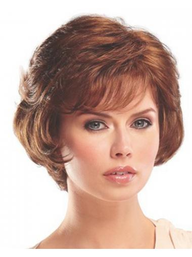 Auburn With Bangs Wavy Stylish Classic Wigs