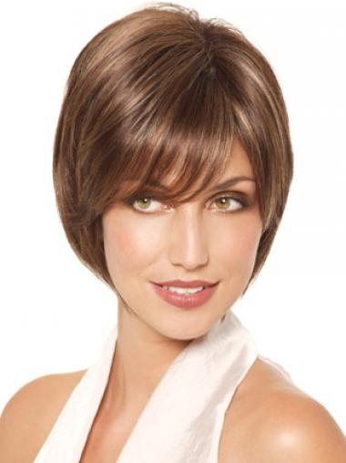 Bobs Straight Brown Convenient Medium Wigs