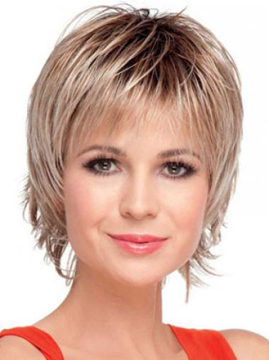Straight Blonde Boycuts Affordable Short Wigs