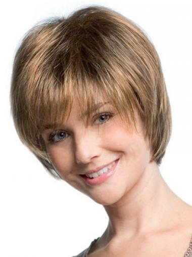 Blonde Synthetic Straight New Short Wigs