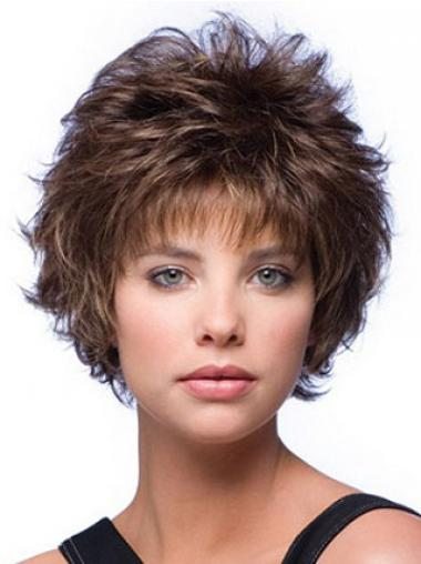 Brown Layered Wavy Incredible Short Wigs