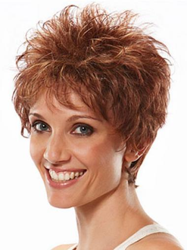 Auburn Boycuts Wavy Suitable Short Wigs
