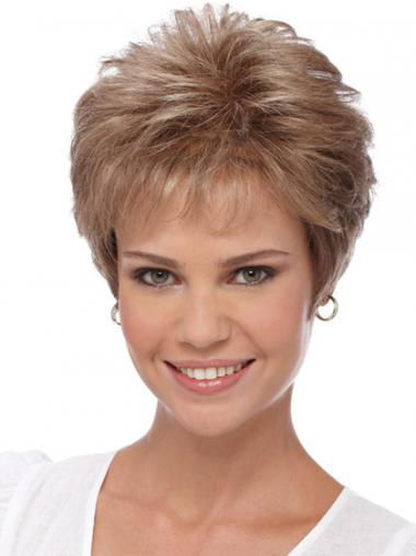 Wavy Blonde Boycuts Beautiful Short Wigs