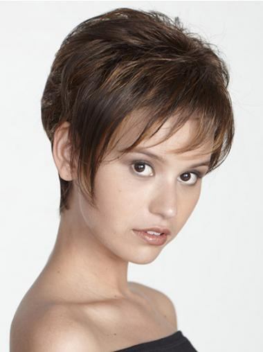 Brown Boycuts Straight Good Short Wigs