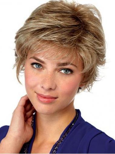 Blonde Layered Wavy Comfortable Short Wigs