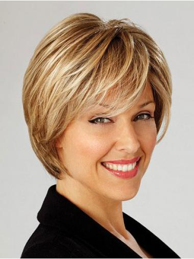 Bobs Blonde Straight High Quality Short Wigs