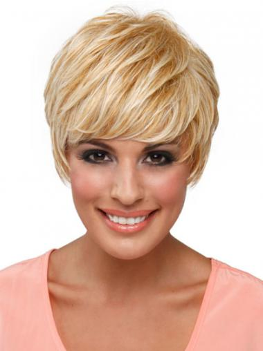 Blonde Boycuts Straight Online Celebrity Wigs