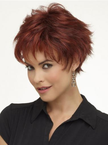 Red Boycuts Wavy Flexibility Short Wigs