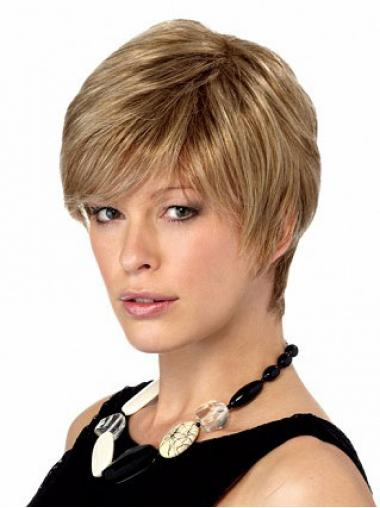 Straight Blonde Boycuts Gorgeous Short Wigs