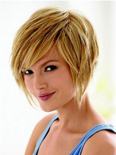 Bobs Blonde Straight Fashionable Short Wigs,