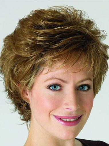 Curly Blonde Layered Designed Classic Wigs