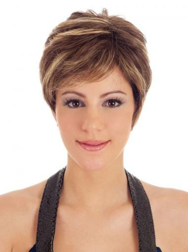 Synthetic Boycuts Straight Modern Short Wigs