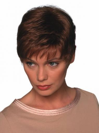 Boycuts Auburn Straight Comfortable Short Wigs