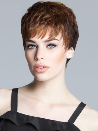 Brown Boycuts Straight Suitable Short Wigs