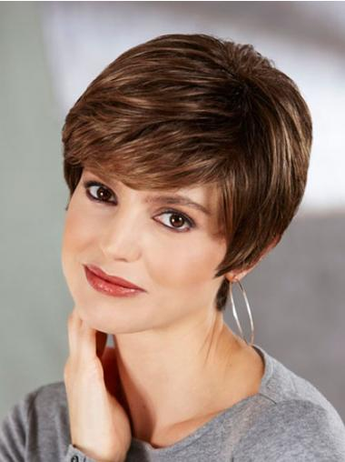 Synthetic Boycuts Straight Affordable Short Wigs
