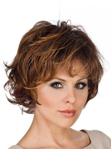 Synthetic Layered Wavy Convenient Short Wigs
