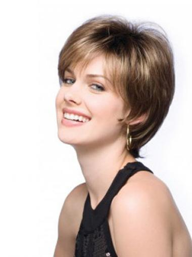 Synthetic Boycuts Straight Perfect Short Wigs