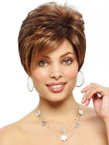 Synthetic Boycuts Straight Fabulous Short Wigs