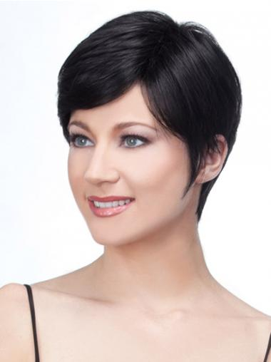 Black Boycuts Straight High Quality Short Wigs