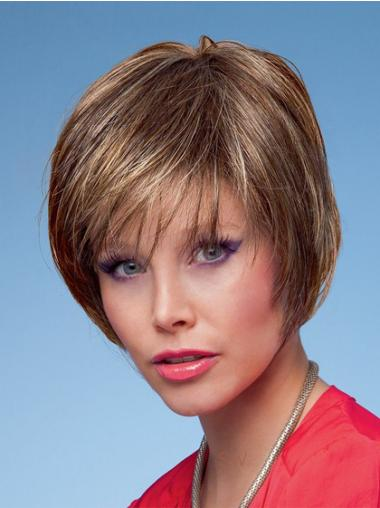Bobs Straight Brown Designed Short Wigs