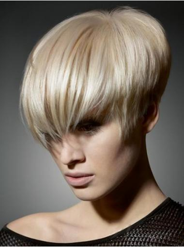 Blonde Boycuts Straight Hairstyles Short Wigs