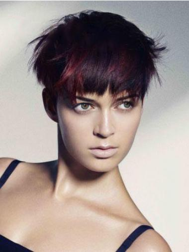 Red Boycuts Straight Gorgeous Short Wigs