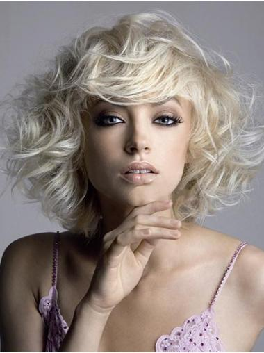 Blonde Layered Wavy Cheap Short Wigs