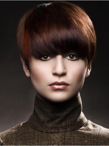 Remy Human Hair Auburn Comfortable Short Wigs