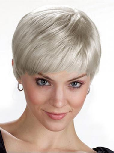 Straight Synthetic Fashion Grey Wigs