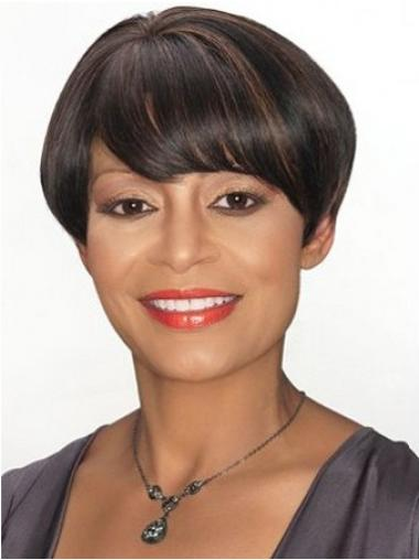 Brown Boycuts Straight Great Short Wigs