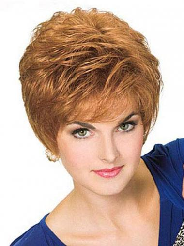 Straight Blonde Boycuts Exquisite Short Wigs